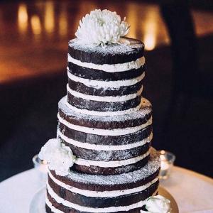 Chocolate Naked Wedding Cake