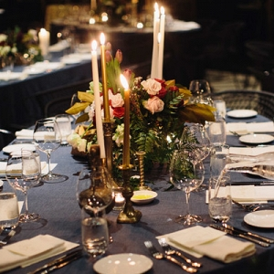 Navy Wedding Reception Table