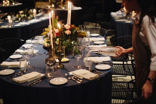Navy Wedding Reception Table