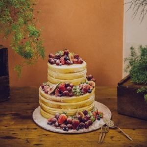 Fruit infused Naked Cake