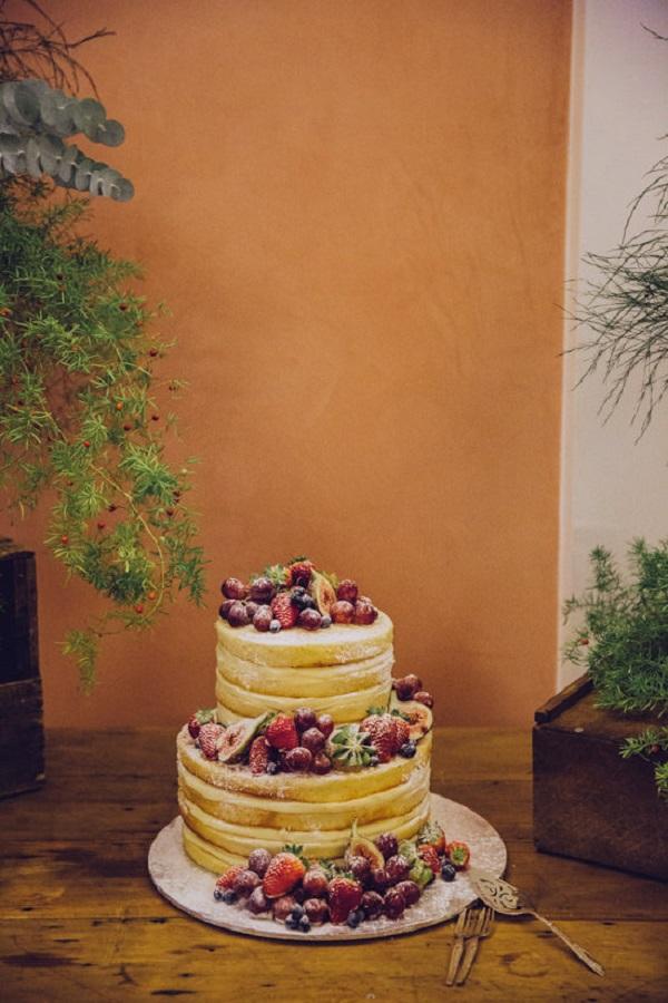Fruit infused Naked Cake