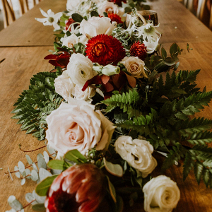 Floral garland wedding centerpiece