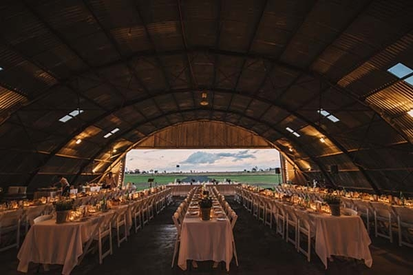 Air Plane Hangar Wedding Reception