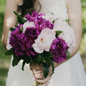 Magenta Peony Wedding Bouquet