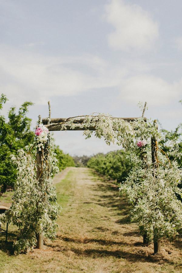 Floral Wedding Ceremony Archway