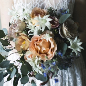 Wedding Bouquet With Flannel Flowers