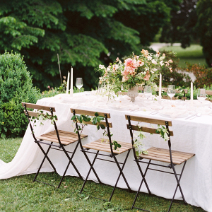 Classic garden wedding reception table