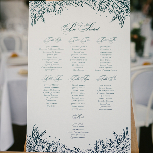 Green & White Seating Chart