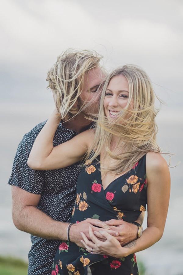 Windswept Engagement Photo