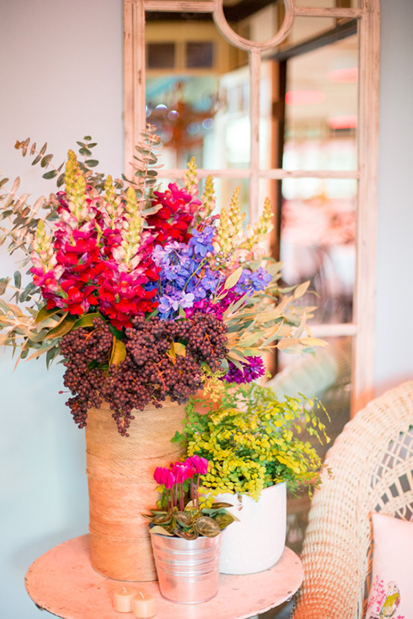 Colorful Modern Wedding Floral Arrangement