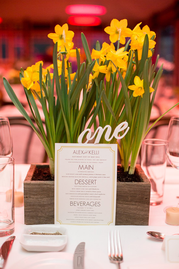 Daffodil Wedding Centerpiece