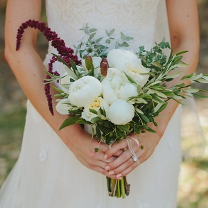 Marsala And White Bouquet