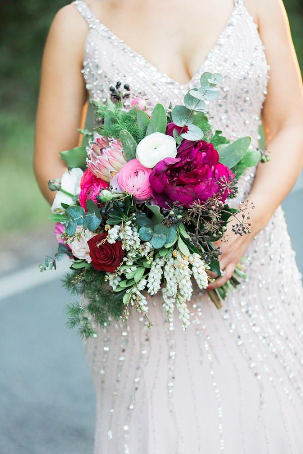 Loose Bohemian Wedding Bouquet