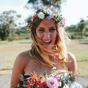 Bridesmaid With Flower Crown