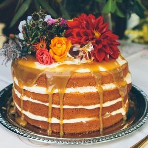 Caramel Naked Cake