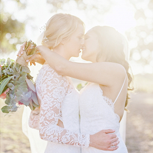 Australian same sex wedding portrait