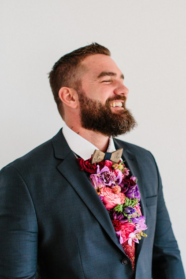 Groom With Flower Cravat