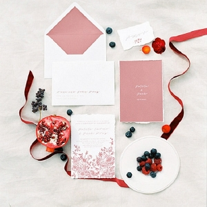 Berry Inspired Wedding Invitations