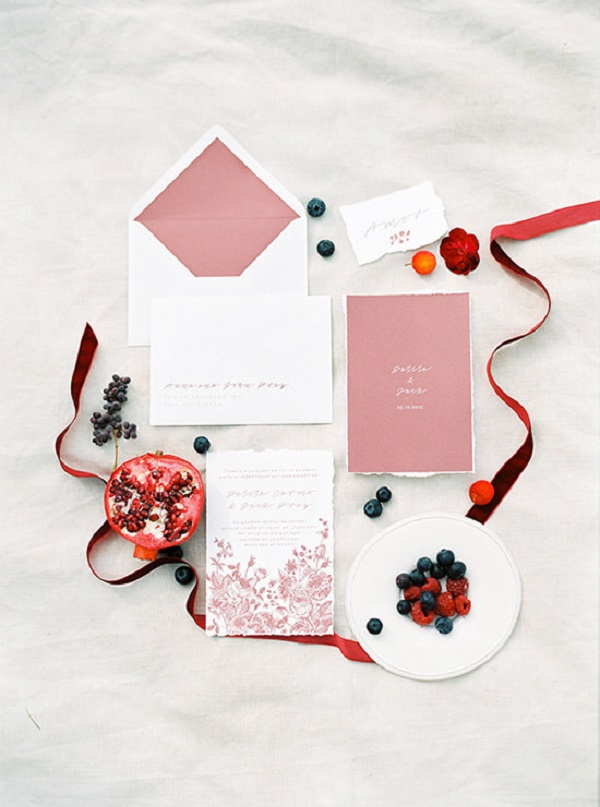 Berry Inspired Wedding Invitations