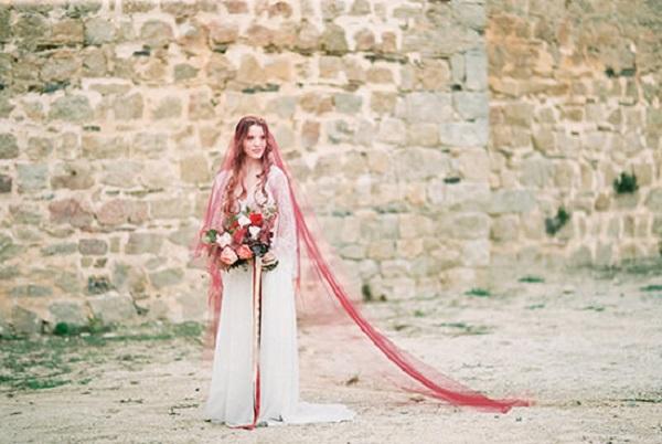 Romantic Berry Inspired Bridal Fashion
