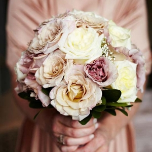 Dusty Pink & Cream Bouquet