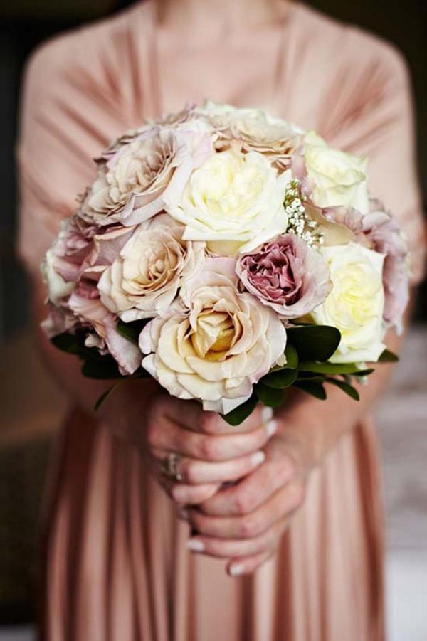 Dusty Pink & Cream Bouquet