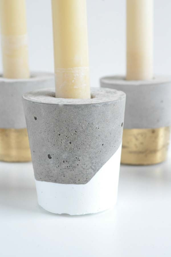 Handmade Concrete Candle Holders