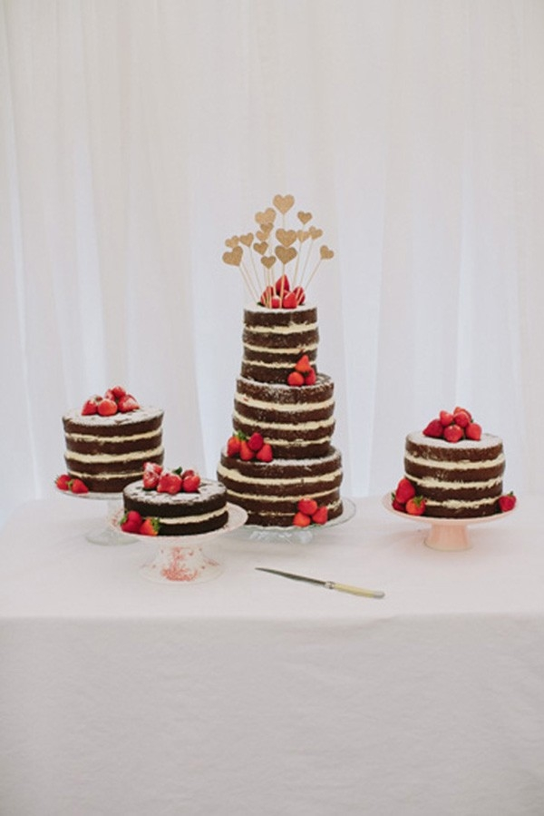 Naked Chocolate Wedding Cakes