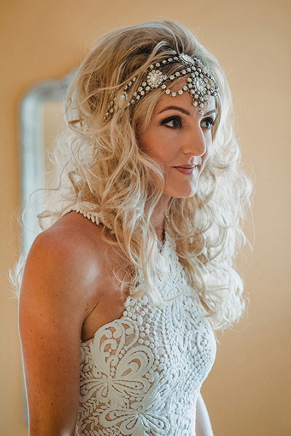 Bride With Jewelled Hairpiece