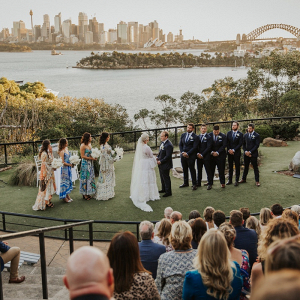 Outdoor Sydney wedding ceremony