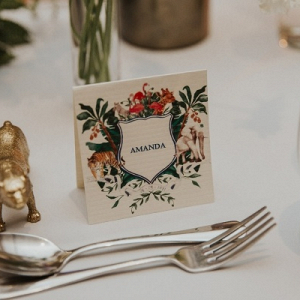 Whimsical animal themed place cards