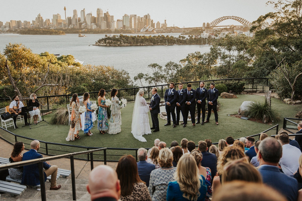 Outdoor Sydney wedding ceremony
