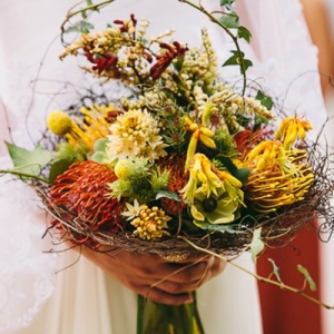 Bright Orange And Yellow Bouquet