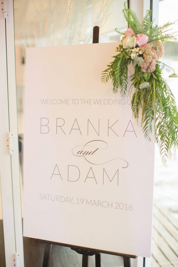 Wedding Sign With Flowers