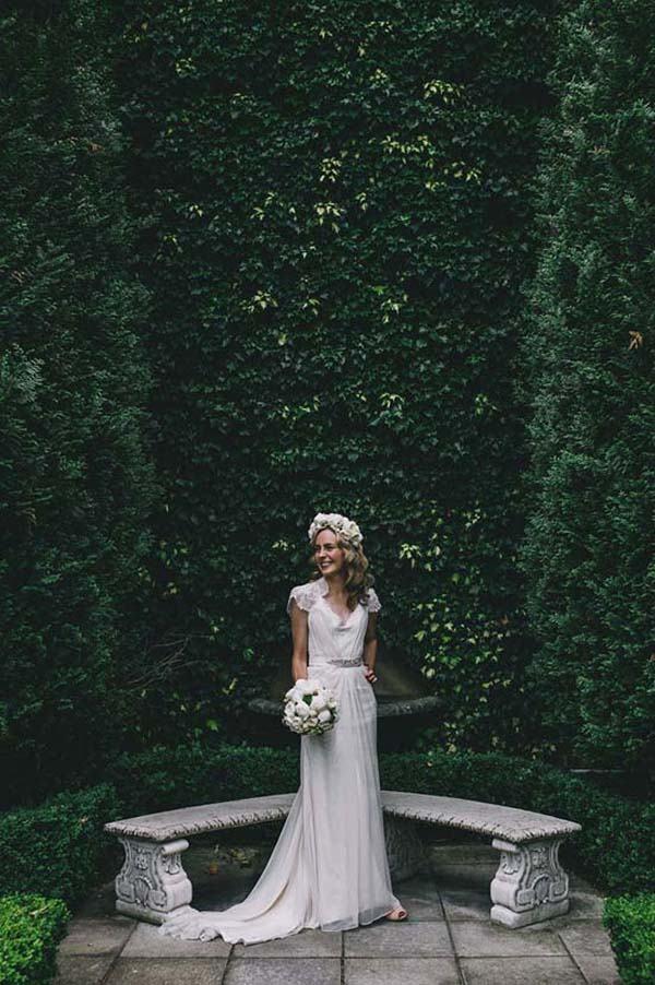 Bride With Wedding Dress With Waistband
