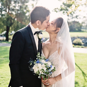 Elegant Australian wedding portrait