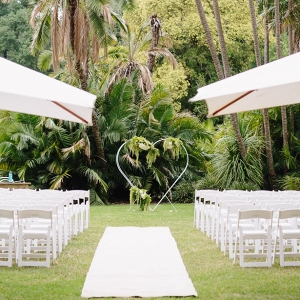 All White Garden Wedding Ceremony