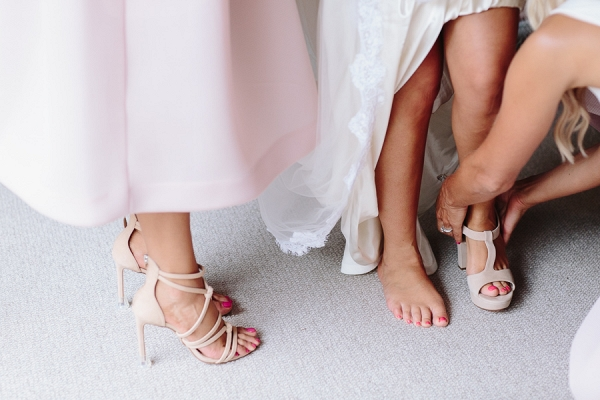 Bridesmaid With Nude Shoes