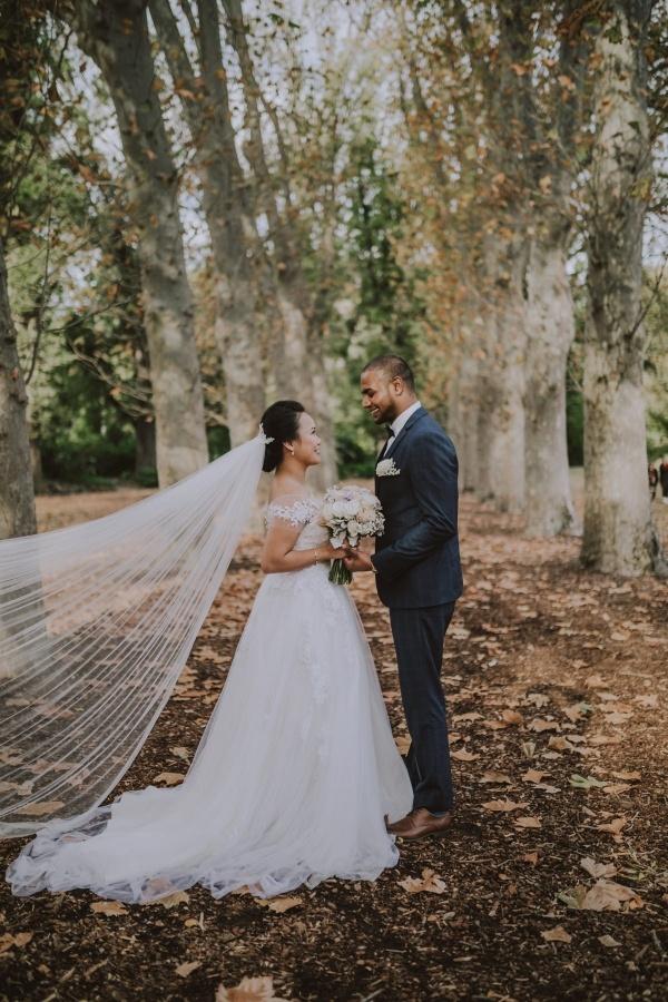 Glam wedding portrait