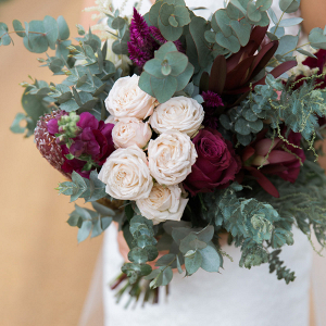 Marsala & Sage Green Bouquet
