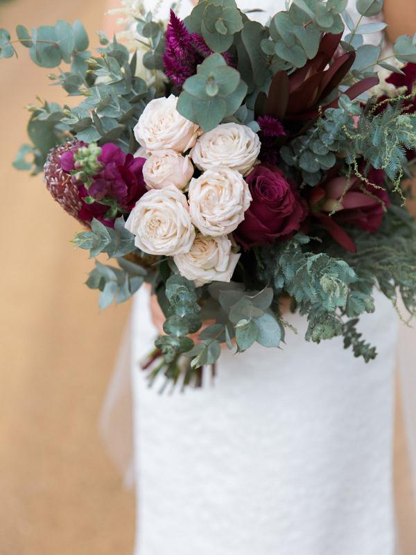 Marsala & Sage Green Bouquet