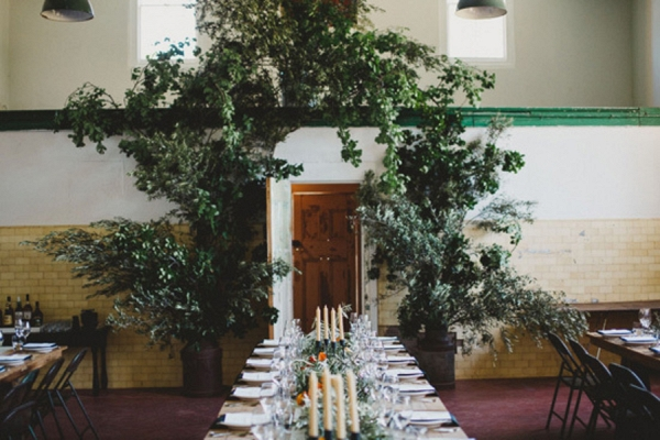 Tablescape With Overhanging Greenery