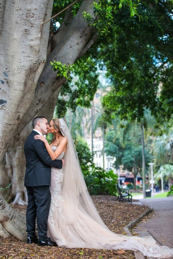 Newlyweds At Fairytale Forest Sydney Wedding