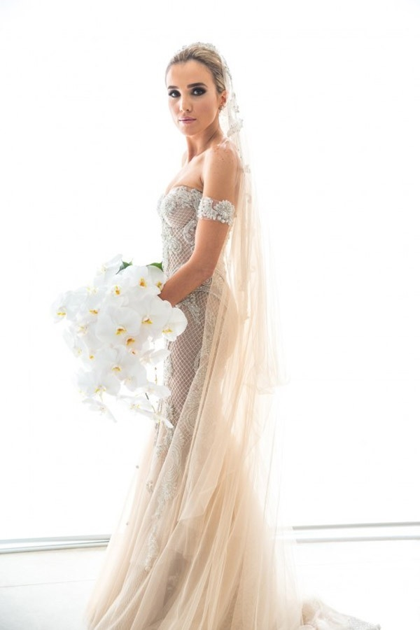 Bride in Steve Khalil Gown