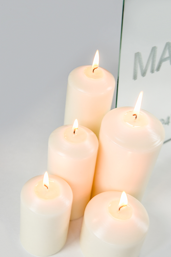 Glowing Pillar Candles