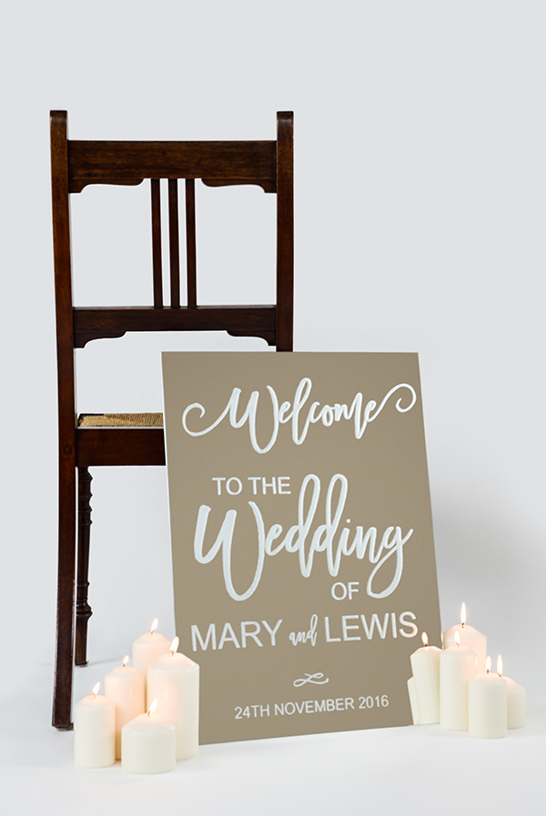 Mirror Wedding Welcome Sign