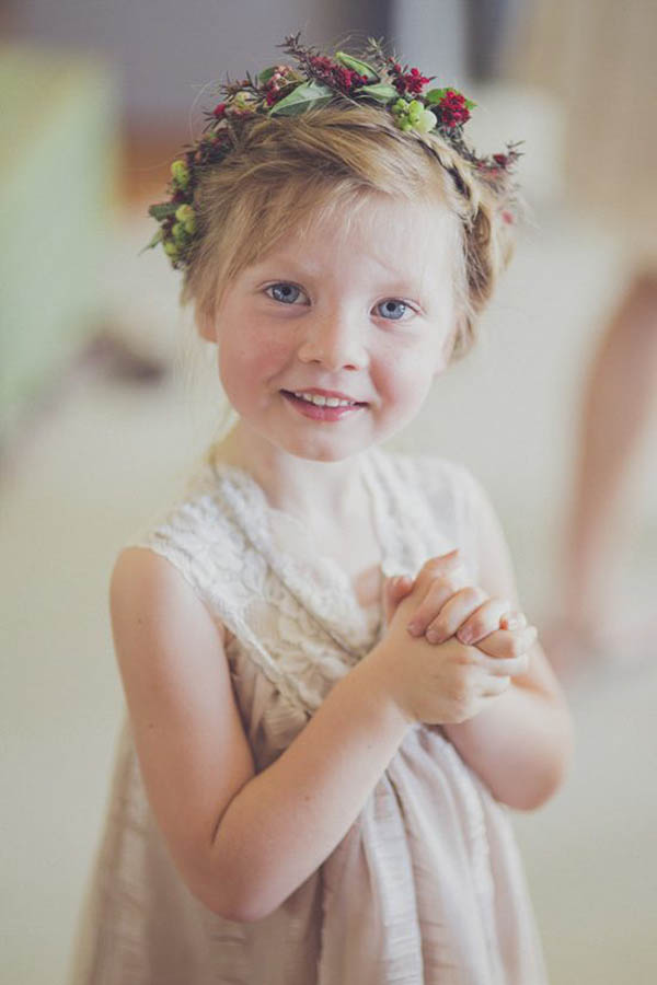 Sweet Flowergirl With Flower Crown