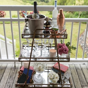 Cocktail Cart At Bridesmaid Party