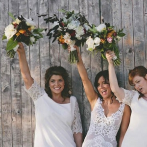 Bridesmaids With Bohemian Style Bouquets