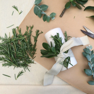 Foliage Wrapped Candles